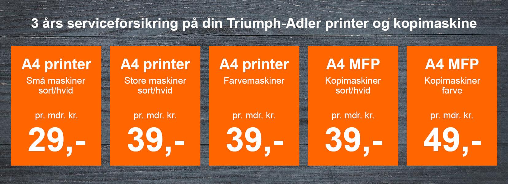 Triump-Adler serviceforsikring