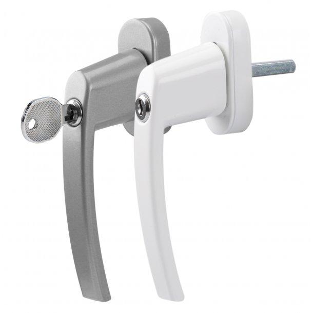 Vindues/terassedørs greb med lås