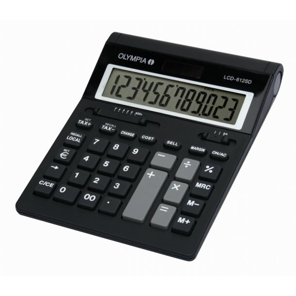 Olympia Skrivebordsregnemaskine LCD 612 SD