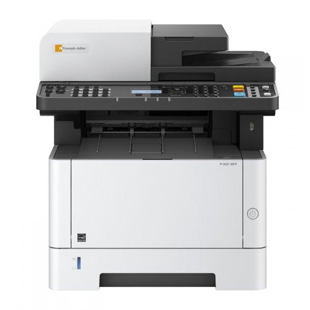 sort hvid printer med scanner
